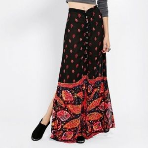 Urban Outfitters Mink Pink Scarf Print Maxi Skirt